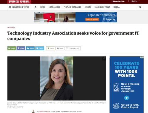 Sacramento Business Journal:  Technology Industry Association seeks voice for government IT companies