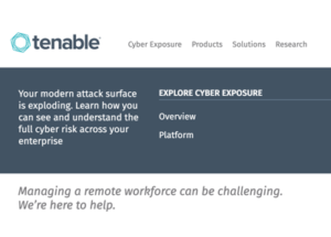 Tenable Solutions – Protecting Your Remote Workforce